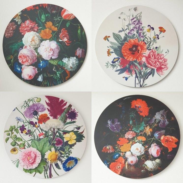 bloemen wandcirkels uit de Masters collectie van HIP ORGNL