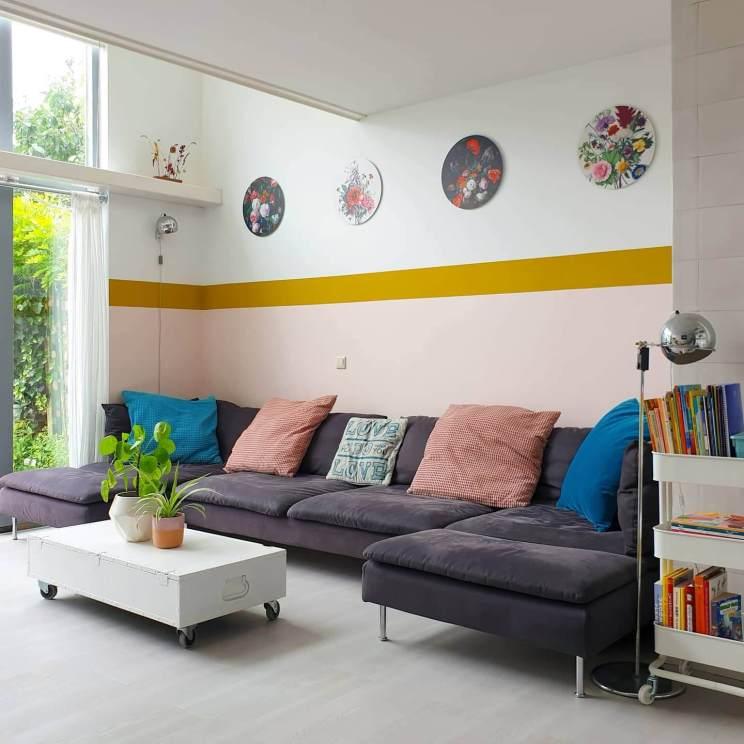 Zo haal je de tuin de woonkamer in met botanische muurdecoratie - muurcirkels met bloemen