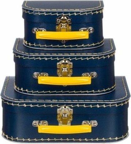 Erg leuk om een kraamcadeau in te pakken: zo'n kek traditioneel koffertje.