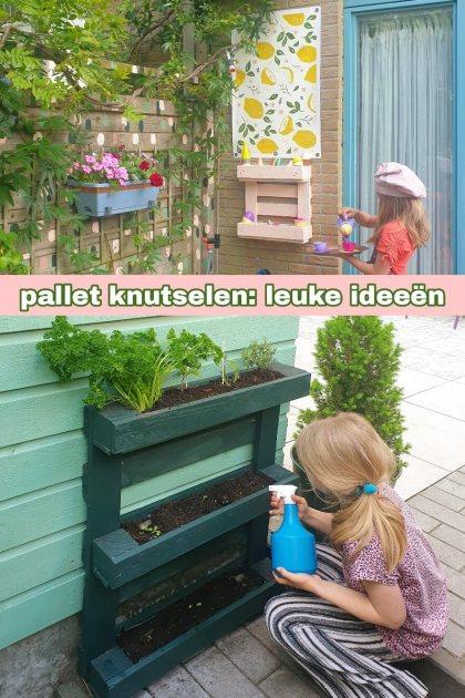 Knutselen met een pallet in de tuin: leuke ideeën. Met een oude pallet kun je super leuke dingen knutselen in de tuin. Ik verzamel hier leuke ideeën, waaronder een kinderkeukentjes, een plantenbak en een hut van pallets.
