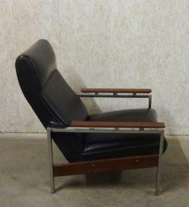 Meubelfabriek Gelderland chrome fauteuil van Rob Parry met
