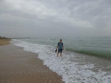 Weg am Strand nach Peniscola