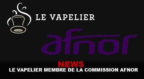 Le vapelier à l'AFNOR, la nouvelle se répand