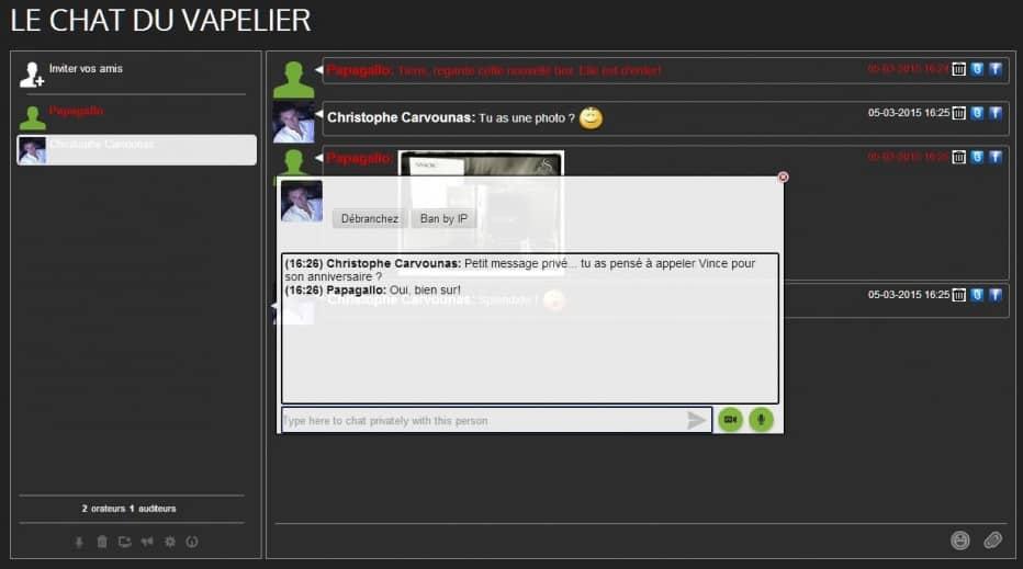 Messaggio privato - Chat - Vapelier