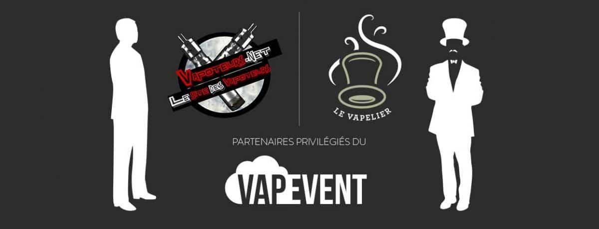 Le Vapelier / Vapoteurs.net partenaires privilégiés du VapEvent