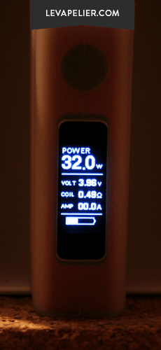 eVic VTwo VW display screen