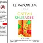 Rabarbercake (Haiku-reeks) door Le Vaporium