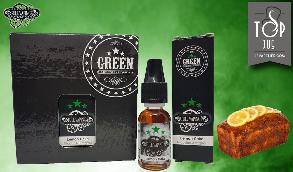 Lemon Cake (Gamme Full Vaping) par Green Liquides