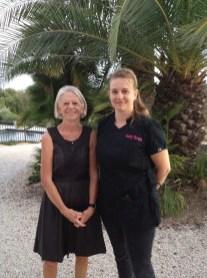 Christine Mutte et Audrey Bureau à La Villa Brignac.