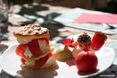 Des tomates confites au dessert, une association originale qui marche bien!