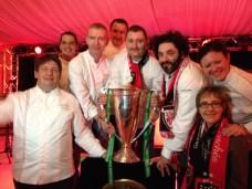 Des fans de rugby chez les chefs Châteaux & Hôtels Collection