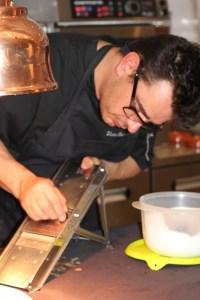 La truffe, râpée en lamelles