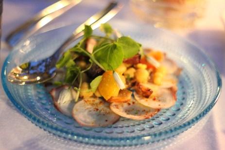 Salade de poulpe de roches