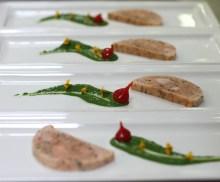 En mise en bouche, Terrine de saumon et de queue d'écrevisse