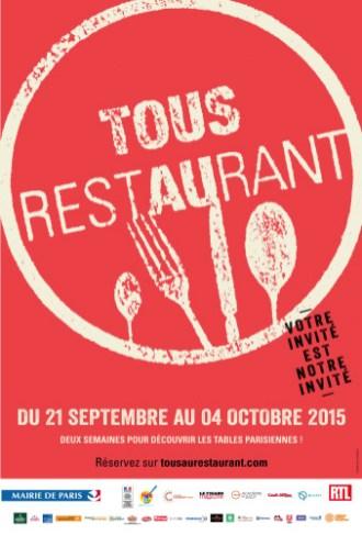 """Tous au Restaurant 2015, """"Votre invité est notre invité"""""""