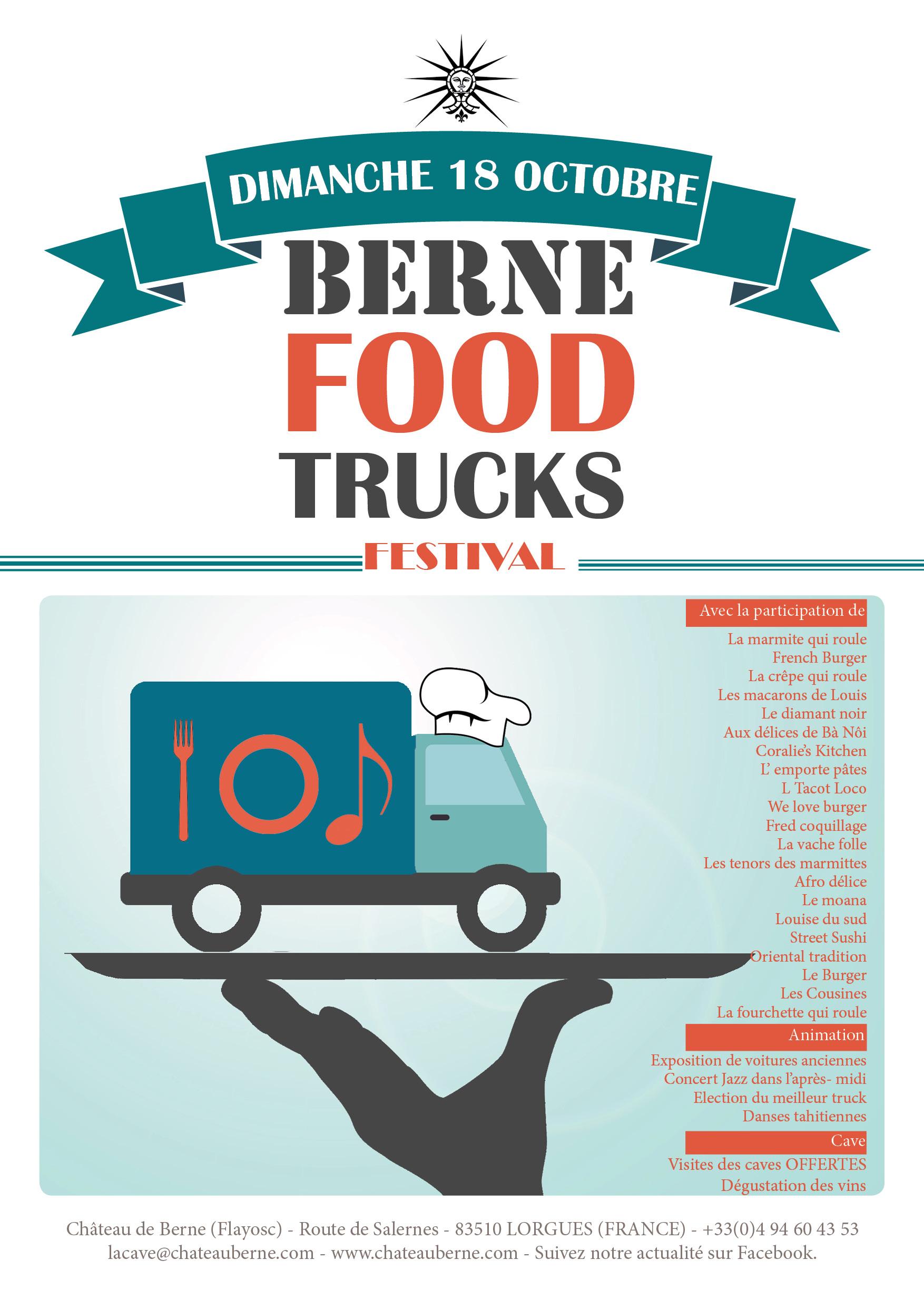 Festival FoodTruck Berne Lorgues  Le Var des gastronomes