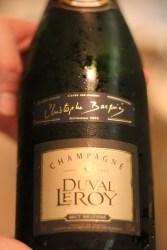 Champagne Duval-Leroy, une cuvée conçue par le chef spécialement pour son restaurant