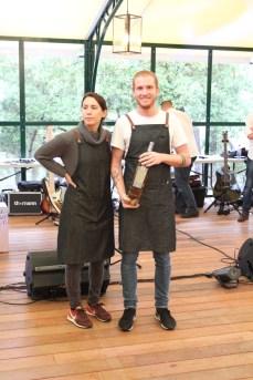 Elsa et Gilles, food-truck La Vache Folle, vainqueurs du concours de Food-Trucks au Château de Berne.