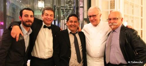 Les chefs varois Benoit Simian, Jean-Claude Santioni, Pascal Bonamy, Alain Mari autour d'Alain Ducasse