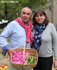 Thierry et Audrey Bortolini, producteurs de fleurs à Peymenade