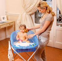 OK-Baby Babybadewanne Onda evolution weiss + Wannenaufsatz