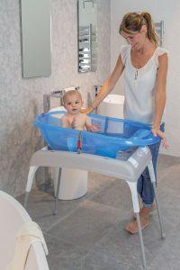 OK-Baby Wickeltisch und Wannenstnder mit Ablasystem fr ...