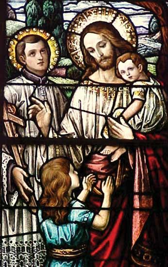 Радомир со своими детьми – сыном Светодаром и дочерью Вестой