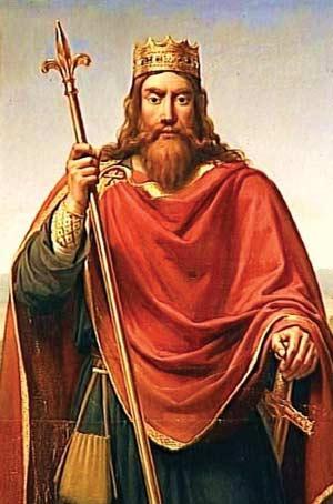 Один из последних Меравинглей, Чилдерик Второй (Childeric II), картина неизвестного автора, сделаная по старинному рисунку