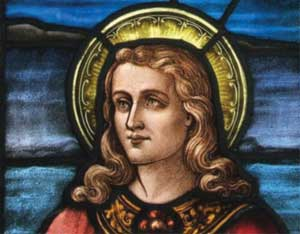Иоанн Креститель (РАДАН). Витраж из церкви в Лему, Лангедок