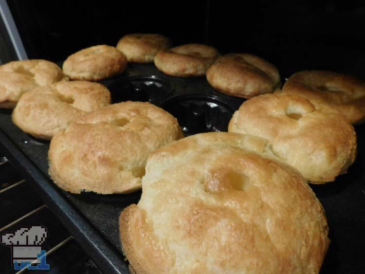 Fully baked sweetroll popovers from the Elder Scrolls Skyrim game series.
