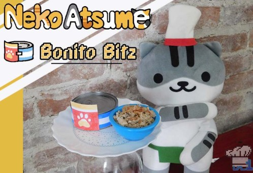 The finished recipe of Bonito Bitz cat food from the Neko Atsume mobile game series.