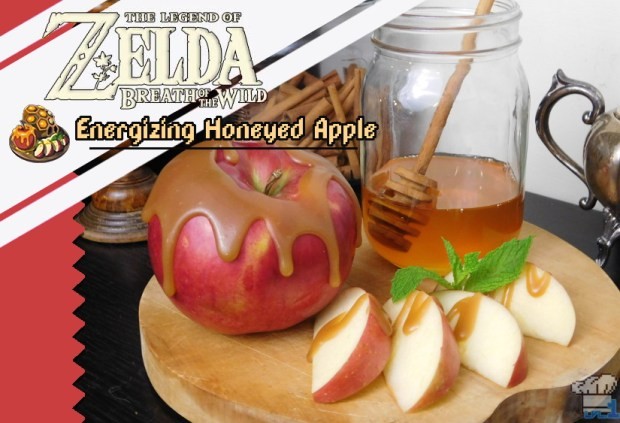 Completed recipe of the energizing honeyed apple from the Legend of Zelda: Breath of the Wild video game