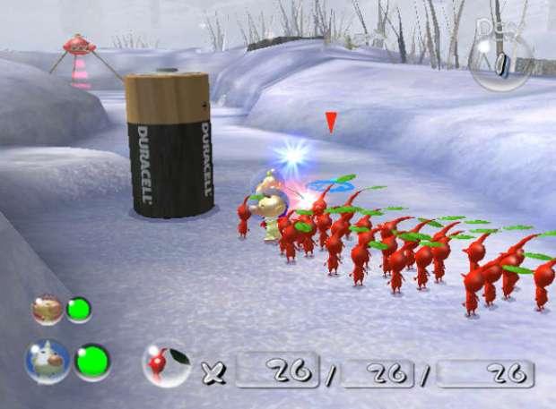 A screenshot from pikmin 2