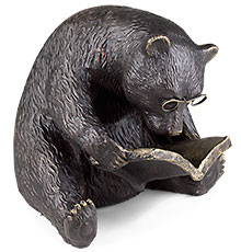 Levenger's Reading Bear Bookend