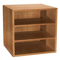 Cubi Desk Bookcase - Wood Bookcase, Stackable Storage ...