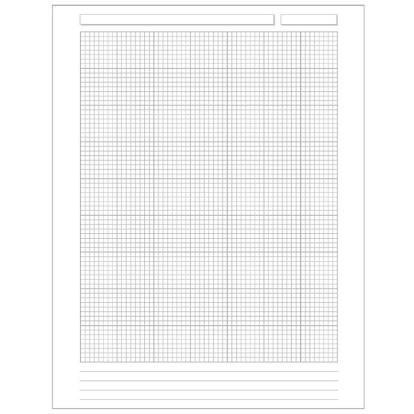 Special Request Engineer Grid 100 sheets Unpunched