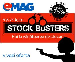 Stock Busters la eMAG cu reduceri de până la 75%