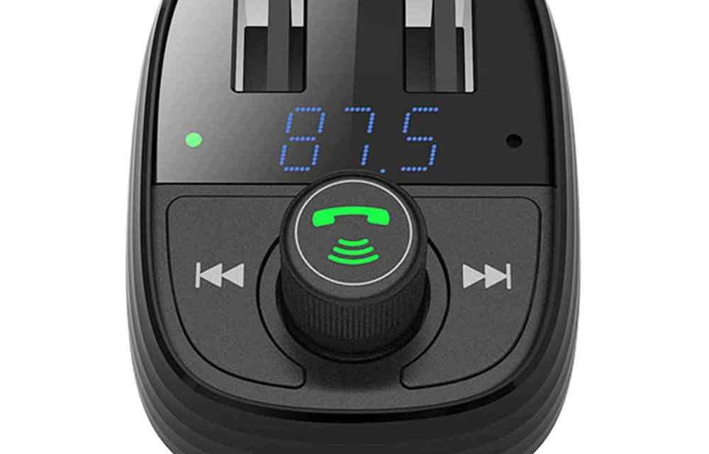 Cel mai bun modulator fm cu  bluetooth si incarcator auto dual USB