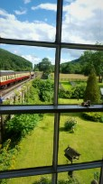 View of front garden and trains from the bedrooms
