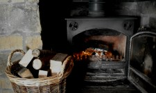 The woodburner comes with a plentiful supply of logs