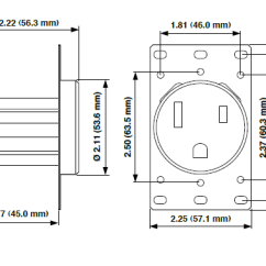 L5 30p To L14 30r Wiring Diagram For Gooseneck Trailer Nema 6 50r Data 5374 50 Amp Flush Mtg Receptacle In Black Leviton 50p