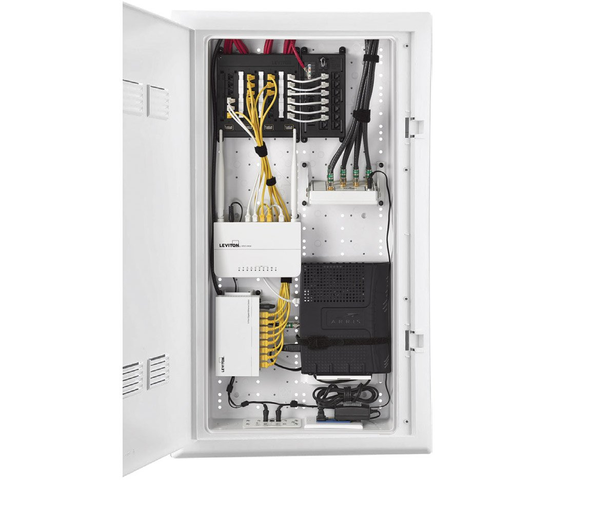 structured media panel diagram single sign on architecture wiring schematic inside the center leviton connected home low voltage box enclosures