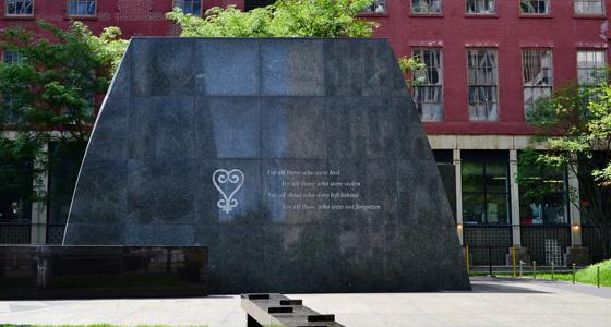 L'African Burial Ground à Manhattan