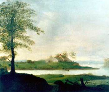 HOUSE ON A RIVER - 1827 BY JOHN S. BLUNT