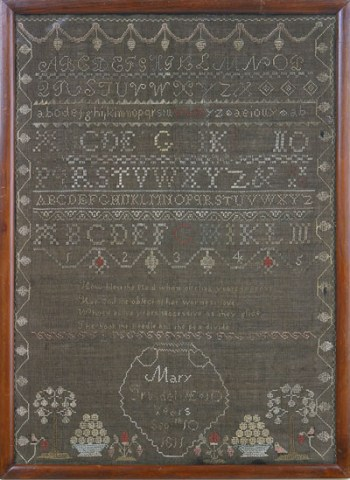 MARY TRUSDEL'S NEEDLEWORK SAMPLER