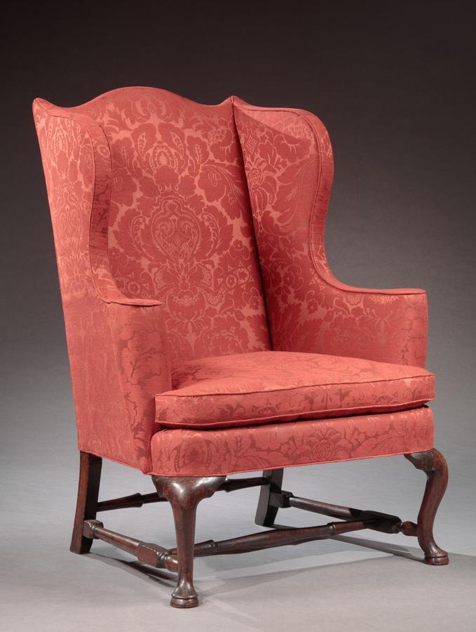 queen anne wing chair cheap plastic adirondack chairs bernard s dean levy