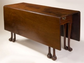 VERY RARE EIGHT LEGGED CHIPPENDALE BALL AND CLAW FOOT DROP LEAF TABLE