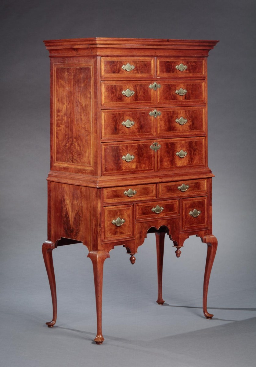 The Abbot Family Early Queen Anne Highboy Bernard Amp S