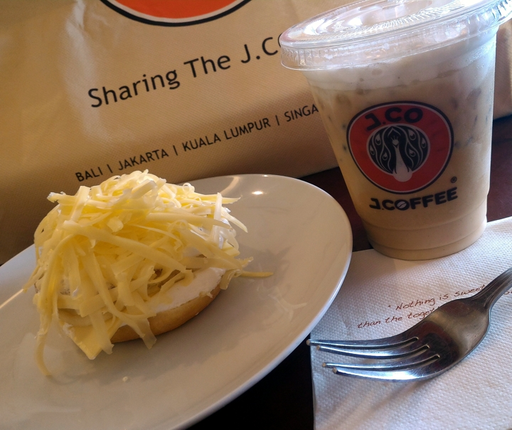 Perfect Together Cheesy Donut and J.CO Premium Cafe Latte