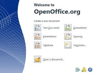 Start Center di Open Office 3 beta 1